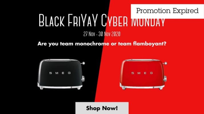 Smeg Black Friday Cyber Monday Sale
